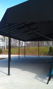 Custom Canvas Works can create free standing awnings to enhance your business or home and offer energy-saving benefits.