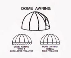 Basically, domes, look like the top half of a ball protruding from your building. They, too, may have the same height and projection. Or you may need to adjust the size to meet your building features.