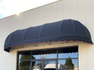 If you need to adjust the width of a convex awning – changing it from a perfect radius – you create an elongated dome. The ends may be curved and rounded or flat and straight, depending on your preference