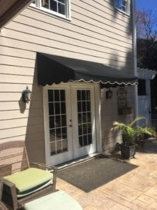 This is a standard in metal awnings, and suitable for nearly any style of building. It's basic, classic, and simple. We can accommodate a vast range of sizes in square awnings for your home or business.