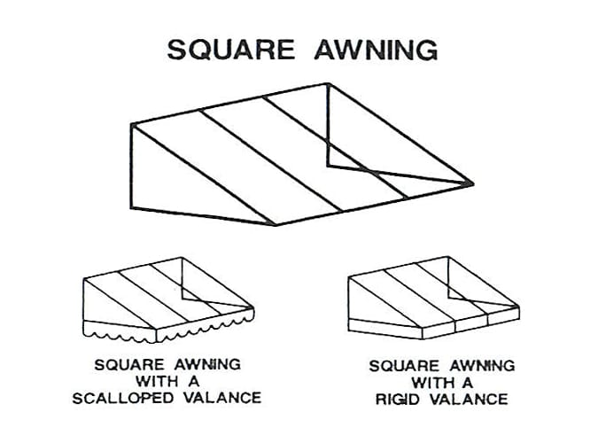 Square Awning