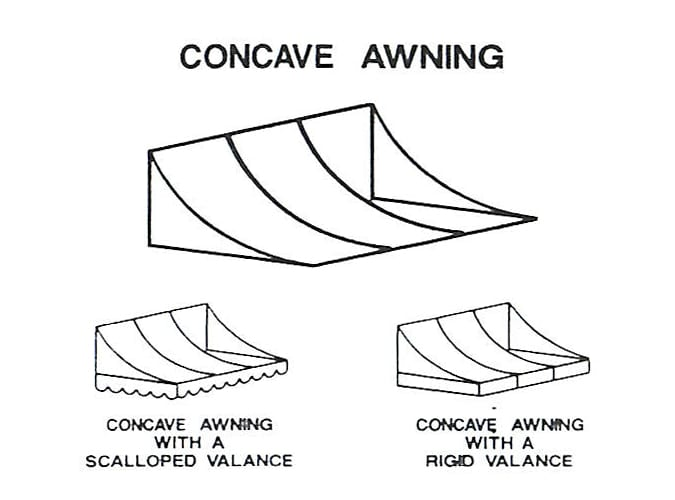 Concave Awning