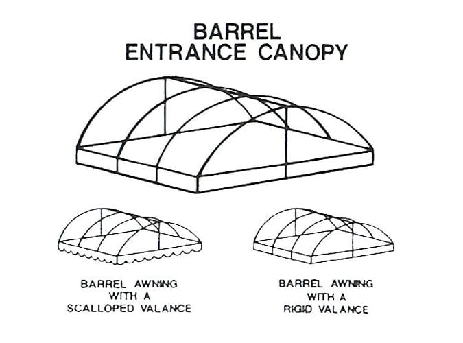 Barrel Entrance Canopy